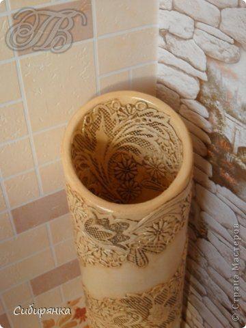 Напольные вазы из шпулек от линолеума (40) (360x480, 134Kb)