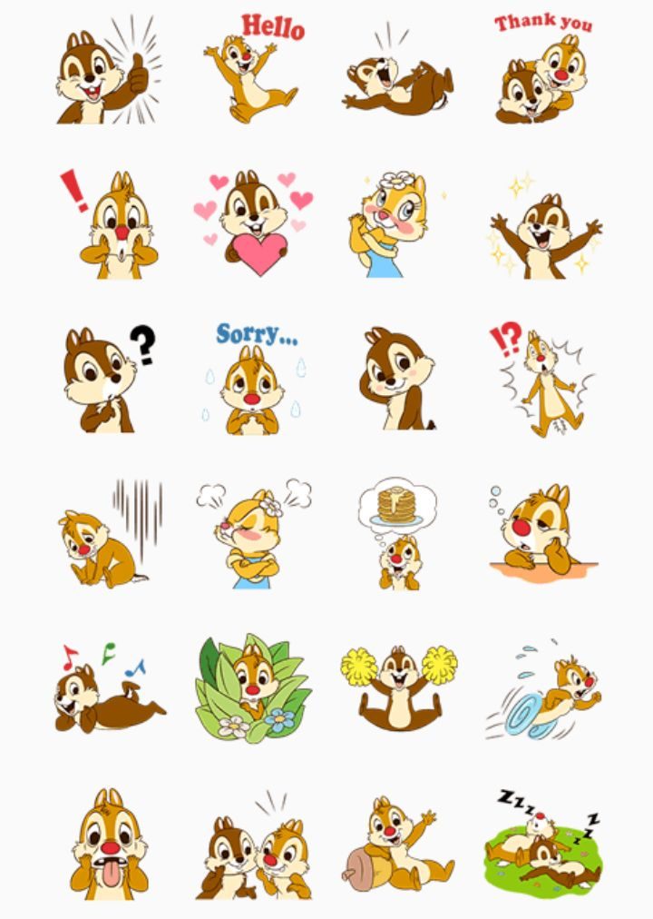 Image Chipmunk Cute Wallpaper Cip E Ciop Chip And Dale Free Printable Stickers