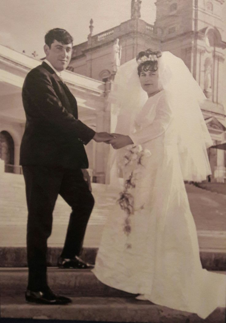My Parents Wedding at Fátima Sanctuary, Late 60's.