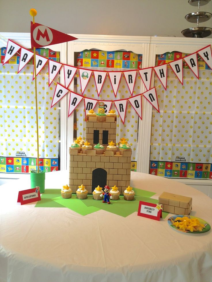 Super Mario Bros birthday party - The Revell House