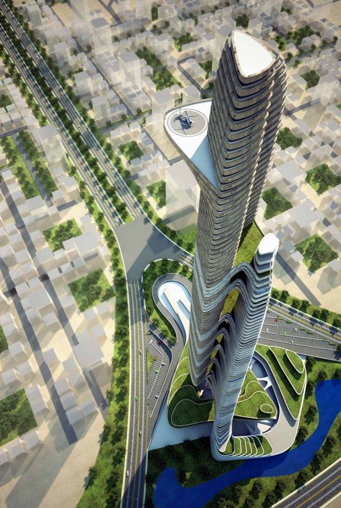 Proposed Father and Son Skyscaper in Cairo, Egypt by IAMZ Studio