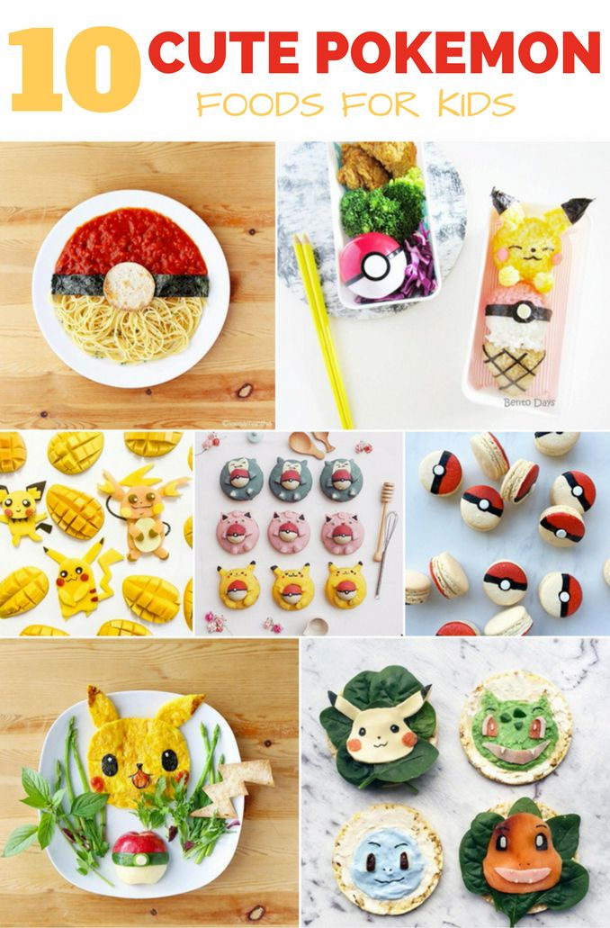 Catch and Eat 'Em All! 10 Adorable Pokemon Foods For Kids. Cute Pokemon snacks, lunch and treats.