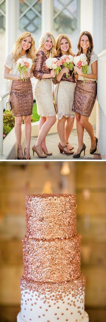 A pop of gold! Copper and Rose Gold Wedding Ideas