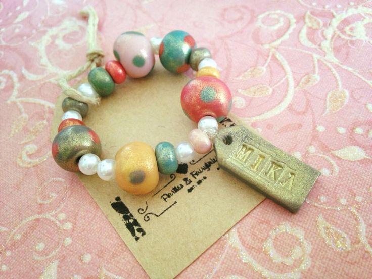 polymer id bracelet for tots