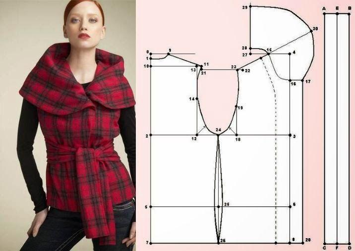 Moda e Dicas de Costura: TRANSFORMAÇÃO DE CASACO SEM MANGAS