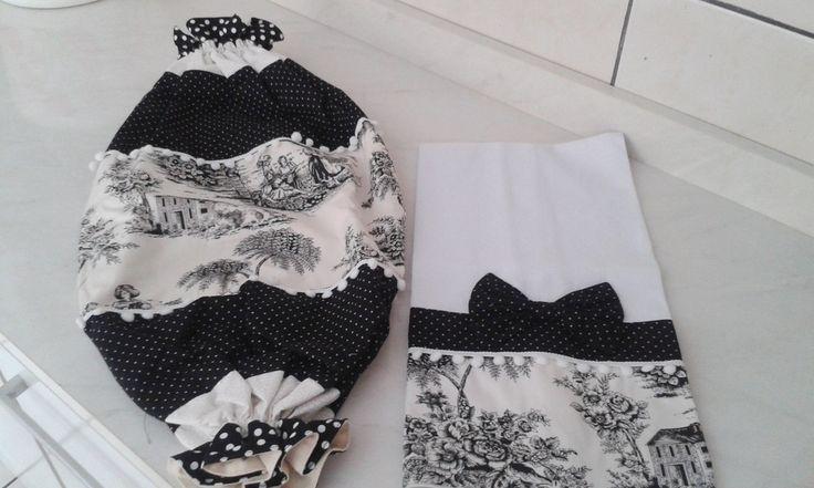 Puxa saco tricoline 100% algodão medida 35x70  Pano de prato 100% algodão medida 50x75