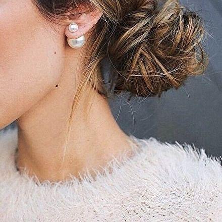 Einfachheit Perlenohrringe – #fashion #pearls #studring #fashionista – 10.95 #e
