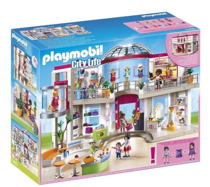 PLAYMOBIL SHOPPING MALL PLAYSET 5485, Furnished Figures Accessories PLAY SET #PLAYMOBIL