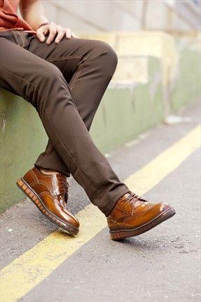 Hakiki Deri Taba Ayakkabı 5M1540790000117STD Yake   Trendyol