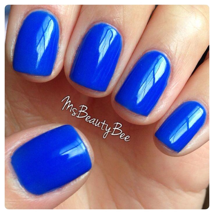 Royal Blue Cobalt Nails Gelish Mali Blu Away