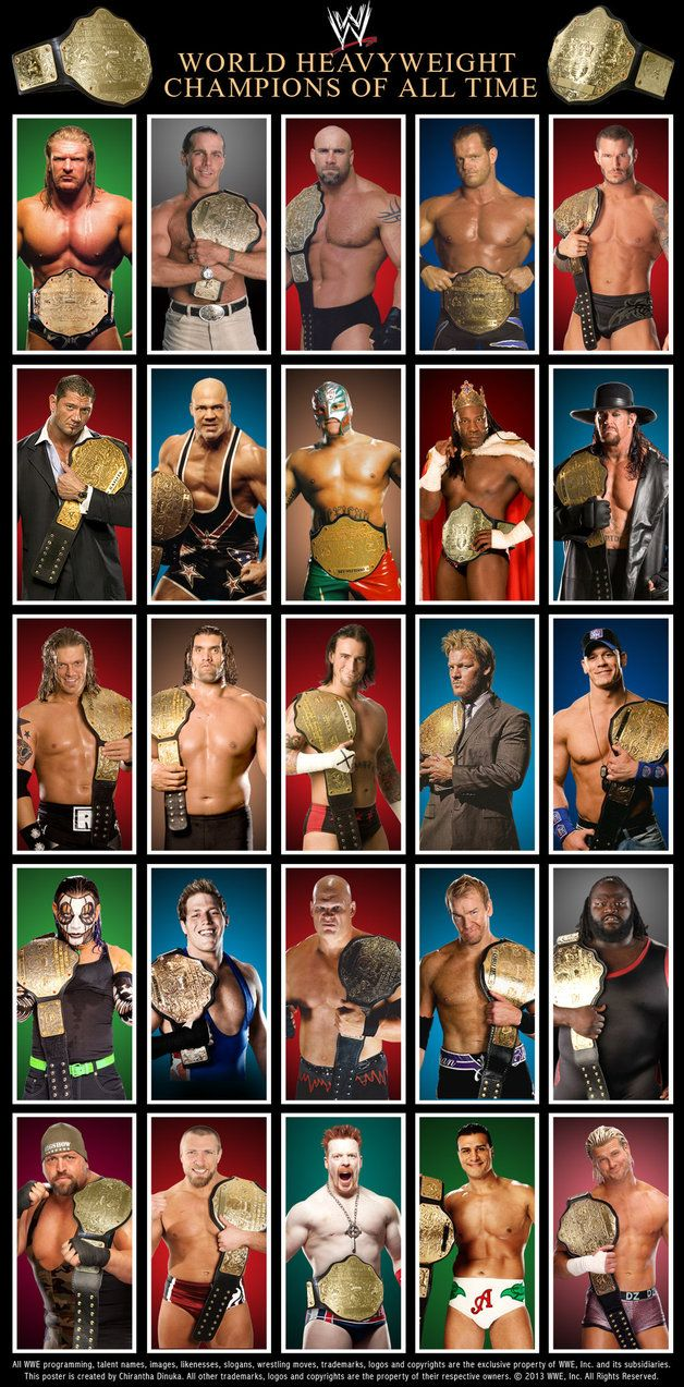 WWE World Heavyweight Champions Poster by Chirantha on DeviantArt