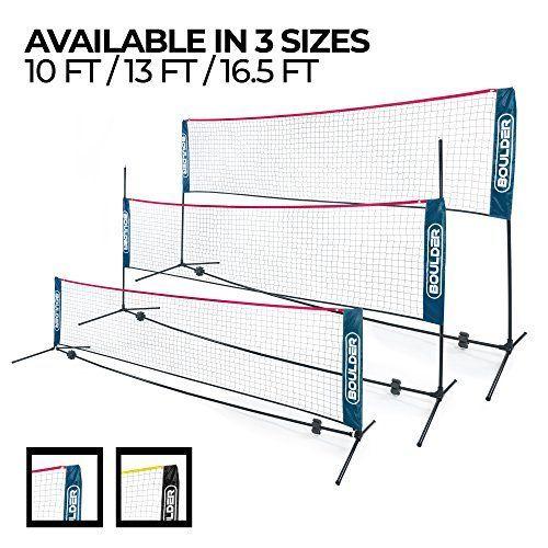 Boulder Portable Badminton Net Set 16 5 Ft Size For Tennis Soccer Tennis Pickleball Kids Volleyball Easy Setup Ny Soccer Tennis Badminton Nets Badminton
