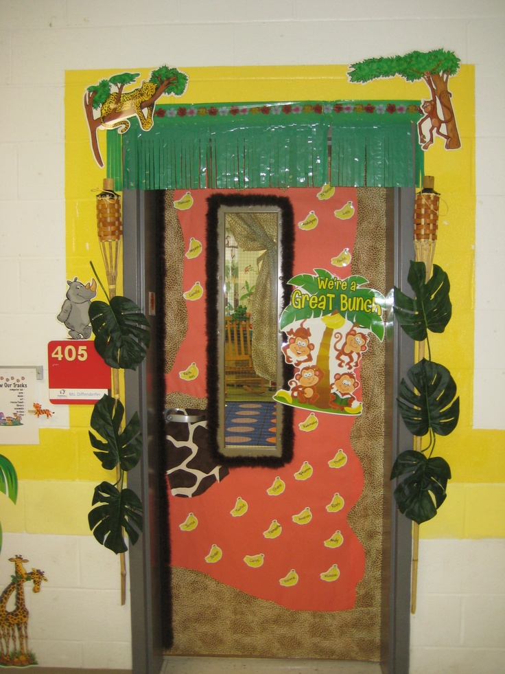 Classroom Door Ideas Jungle ~ Jungle theme classroom pinterest