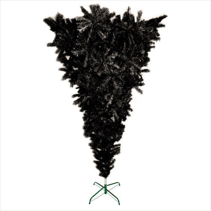 Demon Upside Down Christmas Tree Top Black