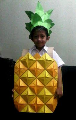 A fun DIY pineapple costume idea for kids.