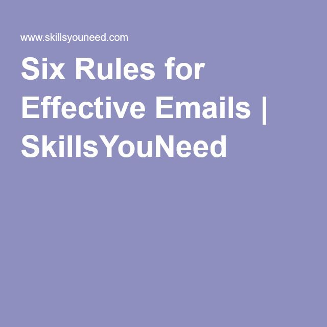 6 effective rules for writing a well written email