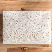 White Hollow Carving Laser Cut Flowers Wedding Invitation Elegant Party Invitations Card Personality Customize inner page CW5187