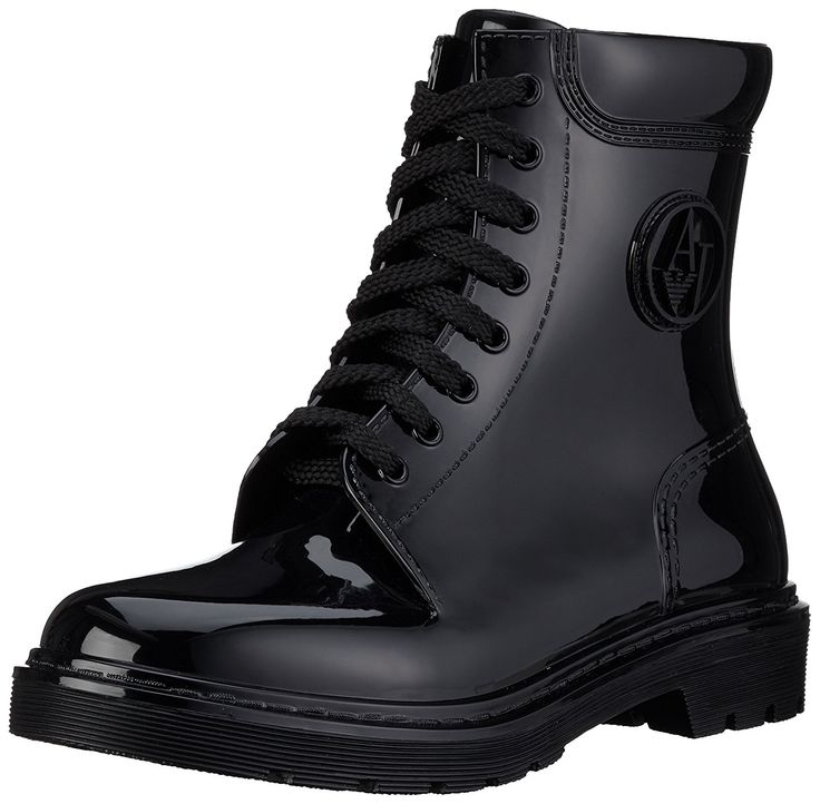 Armani Jeans Women's Jeans Rubber Lace up Rain Boot ** You can get additional details at the image link.