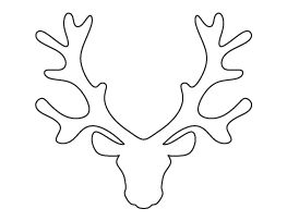 Reindeer Head Pattern