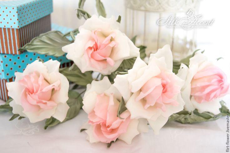 Купить Роза из шелка. Подарок женщине - бледно-розовый, розовая роза, роза
