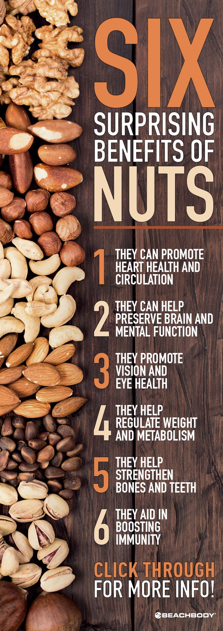 Who knew that your crunchy afternoon snack was so nutritious?! Find out how nuts can boost your health and keep your body happy. // nutrition // nuts // snacks // health // healthy tips // eat clean / (Shakeology Ingredients)