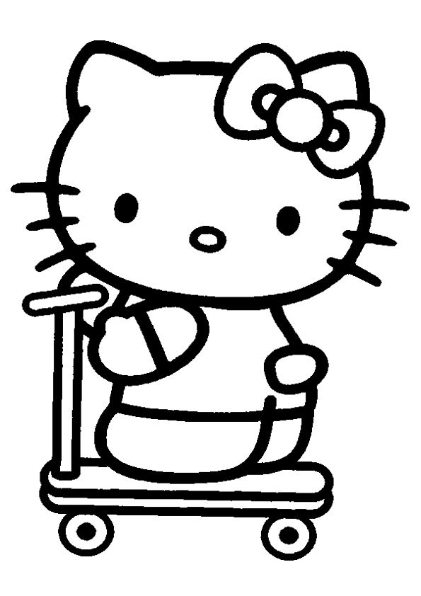 78 Best Coloring Hello Kitty Images On Pinterest