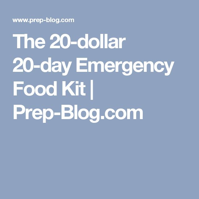 The 20-dollar 20-day Emergency Food Kit | Prep-Blog.com