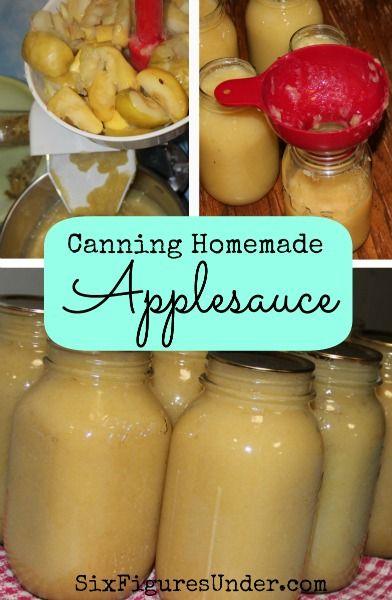Canning Homemade Applesauce    SixFiguresUnder.com   Personal Finance Made Public & Frugality Made Fun