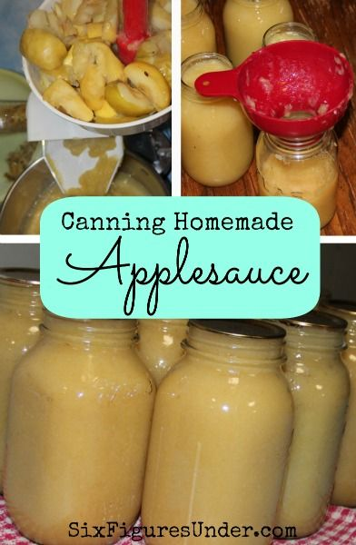 Canning Homemade Applesauce | SixFiguresUnder.com | Personal Finance Made Public & Frugality Made Fun