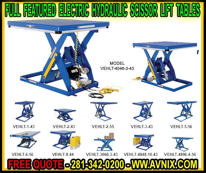 Commercial Heavy Duty Ergonomic Electric Hydraulic Scissor Lift Tables For Sale - Manufacturer Direct Wholesale Prices