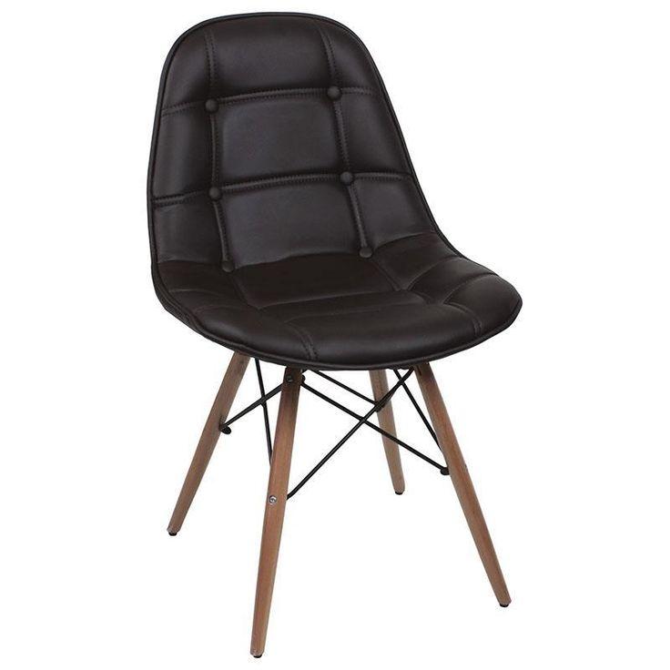 """Simplitatea elegantă a acestui scaun de dining îl face de nelipsit din orice interior retro. Modelul a fost creat de Frank Eams în anii '50 şi a rămas de atunci unul din punctele de referinţă ale designului modern """"Mid Century"""""""
