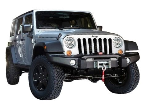 Jeep Accessory - Mopar Jeep Wrangler Black Powder Coat Premium MW3 Off-Road Front Bumper
