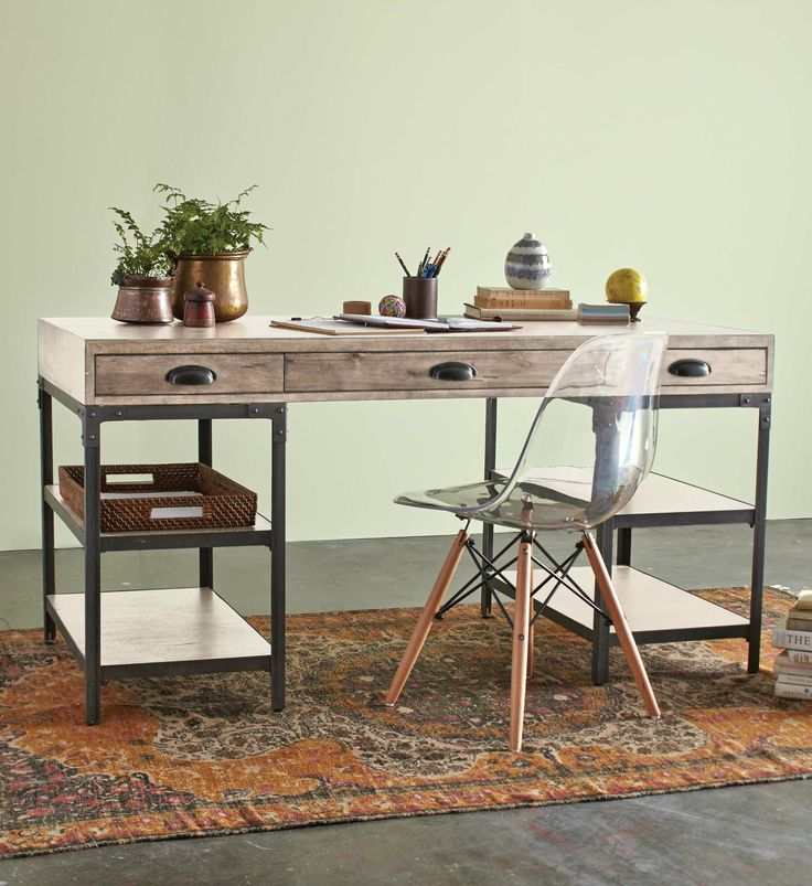 With Well Designed Office Chairs Wood Desks Rustic