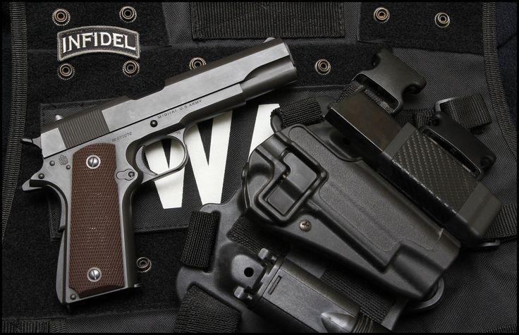 Armas Colt 1911  Colt .45 Infidel 1911 Papel de Parede