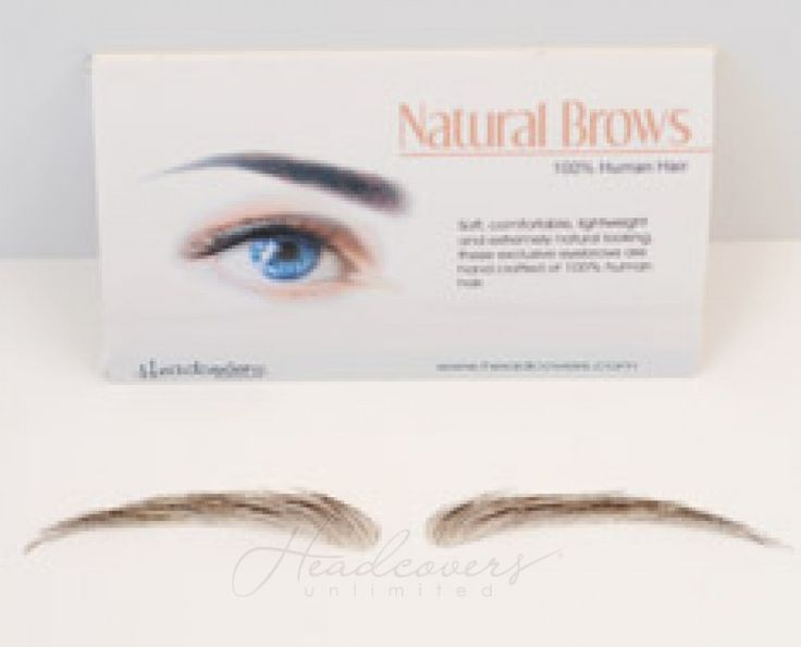 Realistic human hair eyebrows for people suffering from hair loss due to cancer, chemo, or alopecia