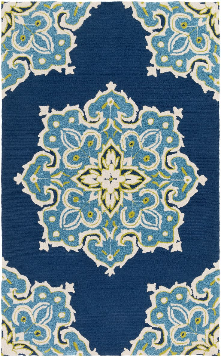 93 best indoor outdoor images on pinterest indoor outdoor really impress your neighbors with this brilliant teal and deep navy outdoor rug on your porch hand hooked rugsnavy rugindoor rugsmandala designblue baanklon Gallery