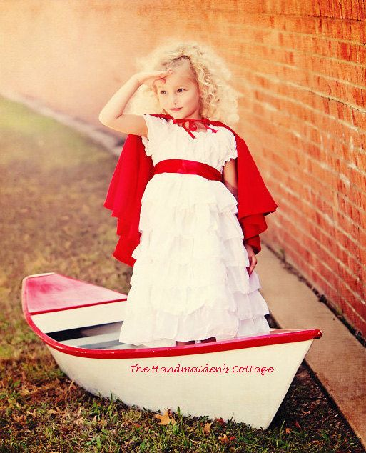 Ruffled Petticoat Girl's Dress PDF Sewing Pattern by Handmaiden's Cottage