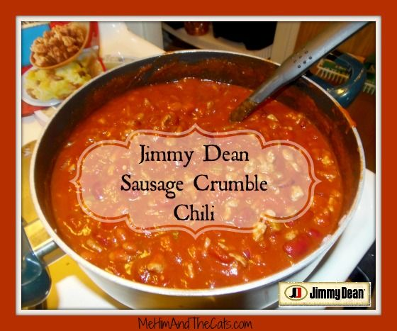 @Jimmy Dean  Sausage Crumbles Chili #JDCrumbles #Sponsored  