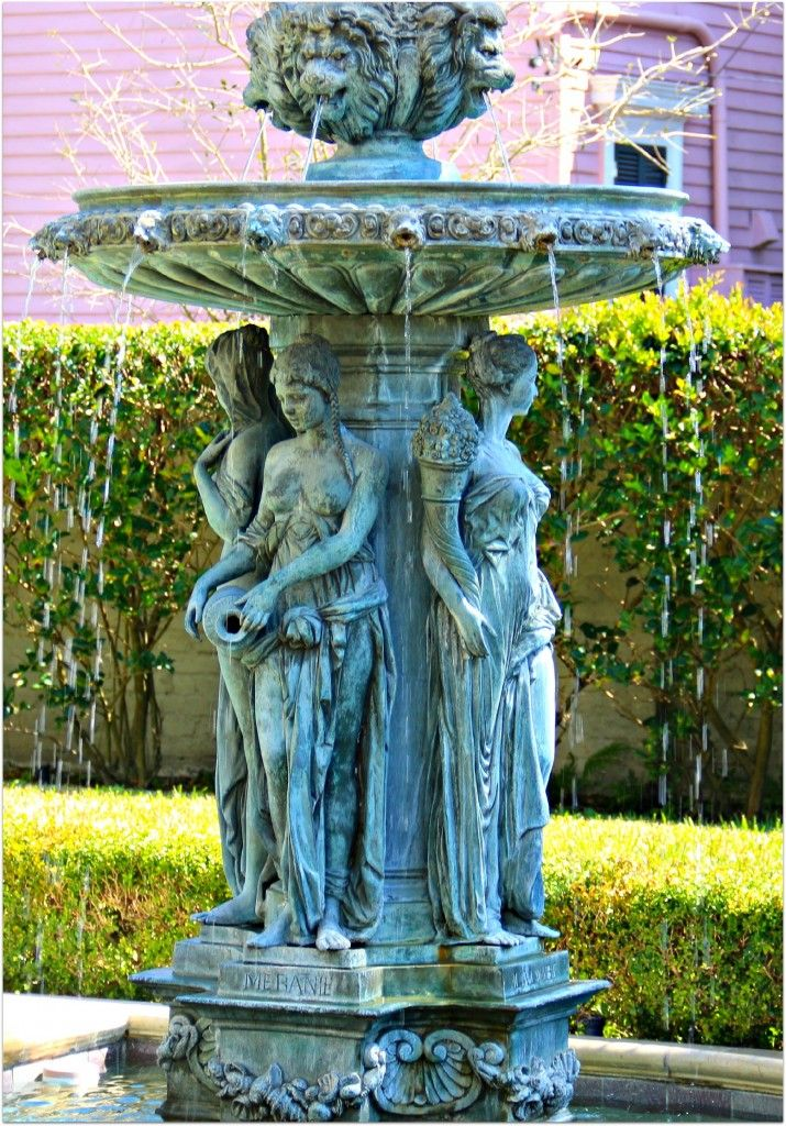 Fountains and courtyards are often found in homes in New Orleans. I saw these in a home in the New Orleans Garden District. These are true works of art. You have to wonder how much work and effort were put inot these two fountains. Just amazing sights and sounds of running water