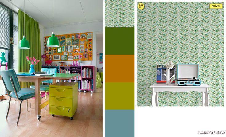 os Achados | Décor | 5 esquemas de cores para  você decorar seu home-office