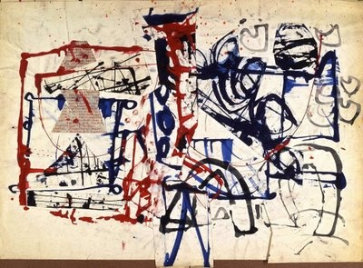 Stuart Sutcliffe, Untitled (Mixed media, paint and collage, 1962)