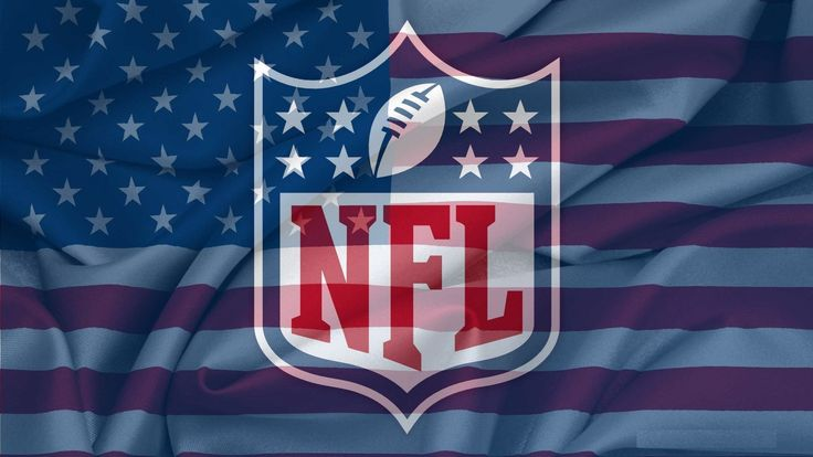 nfl official logo on usa flag wavy hd wallpapers