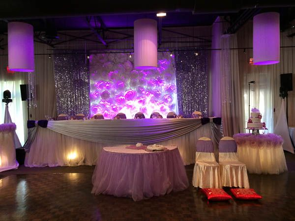The head table and backdrop of the Beaumont Room in Shangri-la Banquet Hall in : dj sound and lighting - azcodes.com