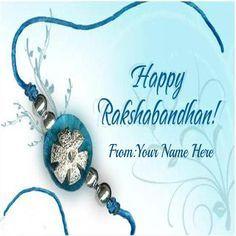 Write Your Name On Rakhi 2015 Wishes Pic For Brother #happy rakshabandhan #rakhi #2015 #wishes #pi