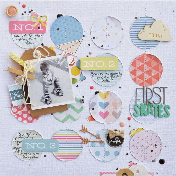 STITCHED CIRCLES EMBELLISHMENT IDEA - American Crafts June Blog Assignment - Elizabeth Gardner