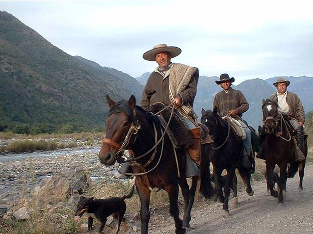 Chilean country men, Chile.