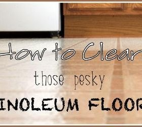 how to clean old linoleum tiles