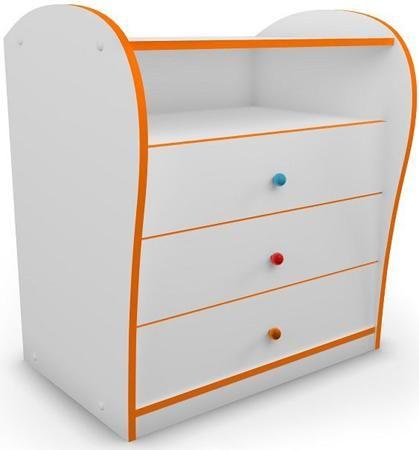 Комод «Буквы»  — 9530р. ---------------------------------------- Комод для детской комнаты с цветной кромкой и разноцветными ручками. Придаст спальне яркость и веселое настроение. Идеально подходит к кроватям серии Кидс. Специальная система направляющих с доводчиками предотвращает резкое шумное закрывание ящиков и делает использование мебели еще более комфортным.Реальный цвет может отличаться от представленного на сайте, ввиду различных настроек монитора.