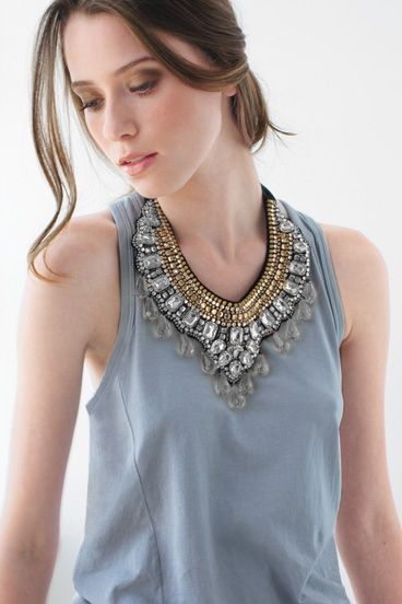 edgy bib necklace - Google Search