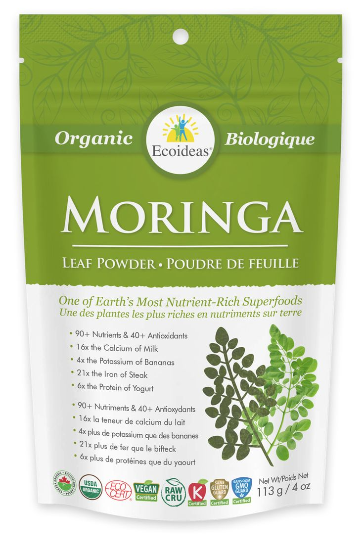 Poudre de Moringa biologique - 113 g - Référence : 00053053 #Quebec #Santé #Beauté #Cadeau #Fête #Maison #Vacances #Voyage